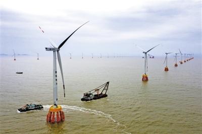 浙江首个海上风电场 全部机组实现联网